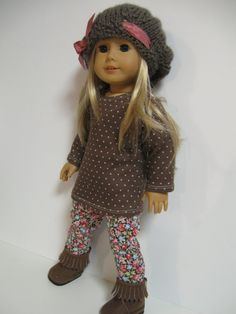 American Girl Doll Clothes  Brown Floral by 123MULBERRYSTREET, $29.00