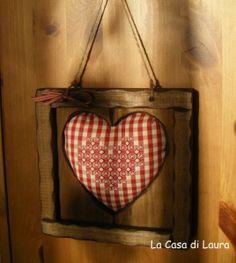 ~ Framed gingham heart...
