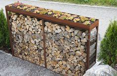 New Ideas Wood Storage Wall Toilets Backyard Sheds, Outdoor Sheds, Outdoor Gardens, Outdoor Firewood Rack, Firewood Storage, Outdoor Walls, Outdoor Living, Patio Storage, Wall Storage