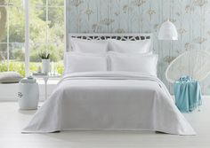 Beautifully quilted with an intricately patterned, geometric design; the Juna bedspread is a contemporary update on classic white. The bedspread is finished with a refined bound edge, complemented by tailored pillow shams for an added touch of style. Pillow Shams, Pillows, Style Challenge, Bed & Bath, Classic White, Bed Spreads, Contemporary, Table, Furniture