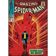 """The Amazing Spiderman Comic Cover wall poster measures 24"""" wide by 34.25"""" High."""