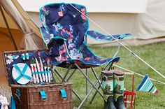 The Joules picnic collection is perfect for sunny days with family and loved ones. Picnic Chairs, Outdoor Chairs, Outdoor Decor, Porch Garden, Home And Garden, Joules Uk, Camping Guide, Beautiful Homes, House Beautiful