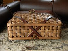 Detail of bottom of Strapped Carriers by Swamp Road baskets