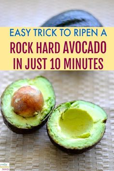 Is your avocado too hard? Learn how to ripen a rock hard avocado in just 10 minu. Is your avocado too hard? Learn how to ripen a rock hard avocado in just 10 minutes! A simple hack of perfectly ripe and silky avocados available to enjoy at all times. Hard Avocado, Avocado Toast, Ripe Avocado, Avocado Wrap, Avocado Oil, Healthy Dessert Recipes, Mexican Food Recipes, Dinner Recipes, Gourmet