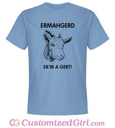 Oh My Goat custom funny tee from Customized Girl