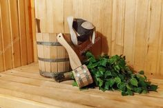 Interior details Finnish sauna steam room bathhouse with traditional sauna accessories basin birch broom scoop felt hat Sauna Accessories, Traditional Saunas, Sauna Steam Room, Finnish Sauna, Birds In Flight, Basin, Finland, Stock Photos, Pure Products