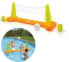 Swimming-Pool-Accessories-Toys-Floating-Volleyball-Game-Floating-Hoops-Kids-New