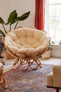 home accents living room Flora Rattan Papasan Chair - - Cozy Living Rooms, Living Room Chairs, Living Room Furniture, Home Furniture, Living Room Decor, Bedroom Decor, Dining Chairs, Cheap Furniture, Furniture Ideas