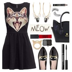 """Cat Lover"" by deborah-calton ❤ liked on Polyvore featuring H&M, Kate Spade, Melissa Joy Manning, L'Oréal Paris, Trish McEvoy, Maybelline, NARS Cosmetics and STELLA McCARTNEY"