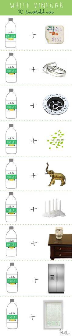 10 Surprising Household Uses for White Vinegar [inspiration] | Picklee