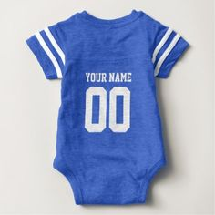 Custom Name Number Baby Football Jersey Bodysuit - baby gifts giftidea diy unique cute