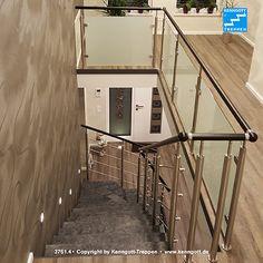 KENNGOTT-TREPPE Stufen Matrix  freitragende KENNGOTT-TREPPE, Stufen Matrix, Geländersystem TERZO als Ausführung mit VSG-Glas-Füllung und Tragteile in Edelstahl.