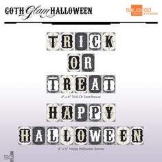 goth glam Halloween party printables @ squared party printables @2PartyPrintables