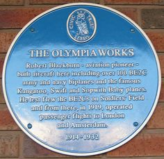 Blue Plaque For Olympia Works Roundhay Park Leeds Flights To London, English Heritage, Army & Navy, West Yorkshire, Leeds, Old Pictures, Olympia, Signage