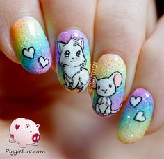 "Learn additional relevant information on ""acrylic nail art designs ring finger"". Visit our internet site. Crazy Nail Designs, Nail Art Designs, Nails Design, Rainbow Nail Art, Negative Space Nails, Animal Nail Art, Lipgloss, Eyeliner Tutorial, Acrylic Nail Art"