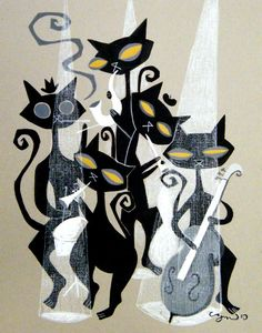 Jazz Cats ~ El Gato Gomez Art