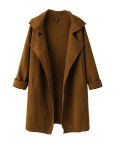 Long Sleeves Loose Fit Coat