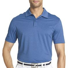 IZOD Short-Sleeve Golf Stretch Polo, Delft (Blue), Small #IZOD #PoloRugby