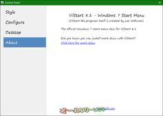 ViStart 8.1.0.5208  ViStart--About--オールフリーソフト
