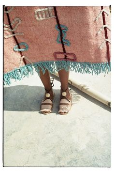 LRNCE is a Belgian fashion label based in Marrakech, founded in 2013 by Laurence Leenaert. wares include out of this world shoes, beautiful rugs & textiles… Textiles, Textile Design, Textile Art, Miss Moss, Vogue, Sandals For Sale, Vintage Design, Fashion Labels, Moustache