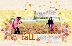 Fall layout by Mou Saha, created for Creating Keepsakes magazine. Get these free fall-themed journaling cards at http://www.creatingkeepsakes.com/articles/Scrapbook_Your_Memories_with_these_Free_Fall_Themed_Journaling_Spots