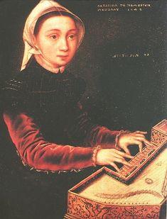 111--12--CONDIZIONE E ISTRUZIONE DELLA DONNA NELL'ITALIA DEL RINASCIMENTO -------------------------In posa uguale Chaterina van Hemessen ritrae la sorella.E anzi a partire dal tardo 500 si puo' citare tutta una serie di ritratti di Donne eleganti sedute a uno strumento a tastiera,prova questa del diffondersi in tutta Europa di piu'positivi criteri di educazione feminine .Tramonta la convenzione del ritratto di Donna con lo sguardo modestamente abbassato e un libro di preghiere tra le mani ,a…