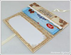 Mariannes papirverden.: Tutorial - sjokoladekort Chocolate card