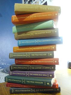 A Series of Unfortunate Events by Lemony Snicket! I read all of these! I LOVED them!