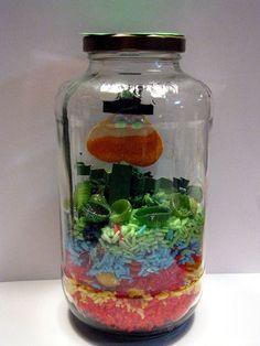 Capture the Leprechaun craft with rainbow rice