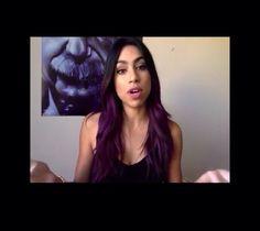 Plum hair. Purple hair.