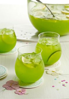 Sparkling Pineapple-Lime Punch — It takes just 10 minutes to prepare this colorful cocktail! Casual get-togethers call for cool beverages, and this delicious drink with fresh muddled mint will be a favorite of friends and family. Give this recipe a try this spring!