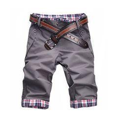 12.82$  Buy here - Men Casual Short Pants 2016 Top Sale Zipper Fly Loose Knee Length Solid Button Wholesale Cotton Drop Shipping Buttons Men Shorts   #aliexpresschina