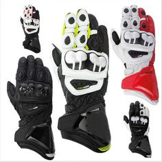 Moto Racing Leather Gloves Motocross Sizes: M L XL High Quality Motorcycle Gear #MotoRacingChina