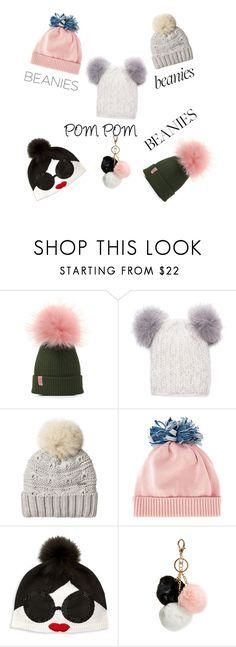 """""""Pom Pom ⚪⚪⚪"""" by jurgat ❤ liked on Polyvore featuring Eugenia Kim, Woolrich, Federica Moretti, Alice + Olivia and GUESS"""
