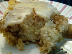 USASillyYaks: Cinnamon Roll Cake, gluten free of course and A-mazing! --- wow!! really sweet, but fantabulous!! i added 2 tsp of cinnamon to batter because i really wanted a blast of cinnamon and i'm glad i did :) ... the 'swirl' mix seemed to all sink to the bottom...definitely needs 1 or 2 cups chopped nuts