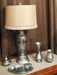 How to paint glass to look like Pewter, Metal, and Mercury Glass