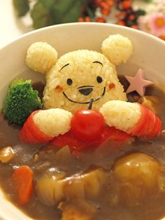 winnie the pooh curry & rice