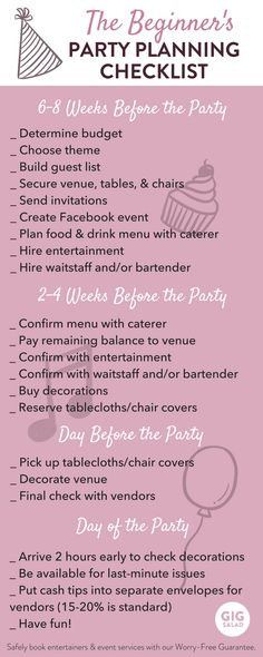We've created an easy party planning checklist for you beginners out there! Whether you're throwing a huge birthday bash or an intimate baby shower, our party planning checklist can always come in handy.