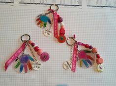 Je vous laisse découvrir les cadeaux réalisés par les ptits bouts aidés par nounou... Nous avons fabriqué des bijoux de sac en plastique fou ... j'ai dessiné des fleurs et le contour des petites mains, les loulous les ont coloré avec les crayons couleur...