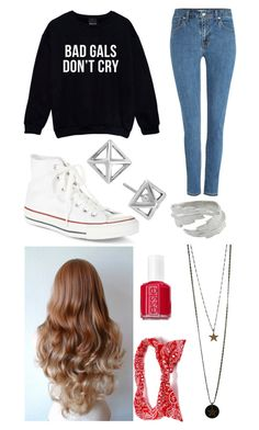 """""""Untitled #1304"""" by beau-4-ever ❤ liked on Polyvore featuring Levi's, Converse, Rebecca Minkoff, Essie, Satine and LeiVanKash"""