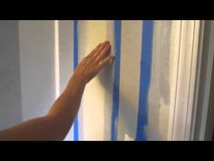How to Paint a Perfect Line - seal the tape  by painting the first color on the tape line, then when dry,  paint the second stripe color, then remove tape on an angle before paint dries  *()