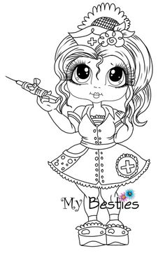 "Instant Download My Besties Doll 2~Digi ""Dr ~RX Nurse Get Well Besties"" ~ My Besties digi stamp"