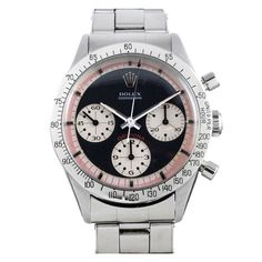 """Rolex Stainless Steel """"Exotic Dial"""" Daytona Wristwatch Ref 6239 circa 1960s   From a unique collection of vintage wrist watches at http://www.1stdibs.com/jewelry/watches/wrist-watches/ - online mens watches, watch i, pink watch *ad"""