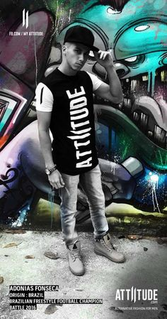 Adonias Fonseca posing for Attiitude latest collection. Coming soon #myattiitude #menswear #alternativefashion #streetfashion #graphitti #freestyle #brazil