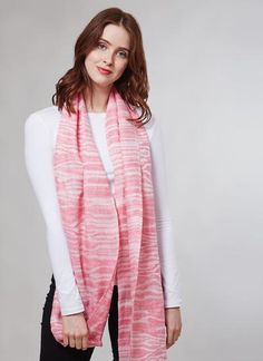 Blarney Irish Linen Pink Paradiso Scarf: Handmade with care in Ireland, this beautiful pink scarf has been finely woven from Blarney Irish linen, and is a perfect bright accessory for spring. Irish Fashion, Woolen Mills, Pink Scarves, Summer Collection, Spring Fashion, Ireland, Spring Summer, Bright, Elegant