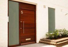 Modena door from Urban Front Fence Doors, Front Door Entrance, Front Entrances, Entry Doors, Entrance Ideas, Door Ideas, Contemporary Front Doors, Modern Front Door, Dublin House