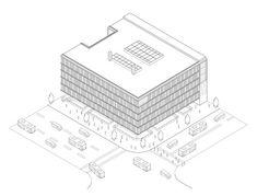 11 Stunning Axonometric Drawings of Iconic Chilean Architecture,Courtesy of Universidad San Sebastián