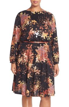 London Times Print Belted Dress (Plus Size) available at #Nordstrom