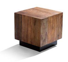 leblon cube end table made from reclaimed brazilian peroba rosa wood 795 brazilian wood furniture