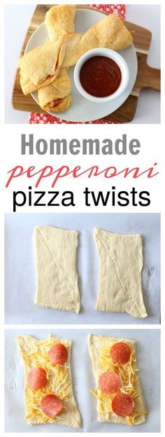 Super Bowl Pepperoni Pizza Twists